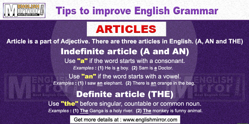 article of english grammar