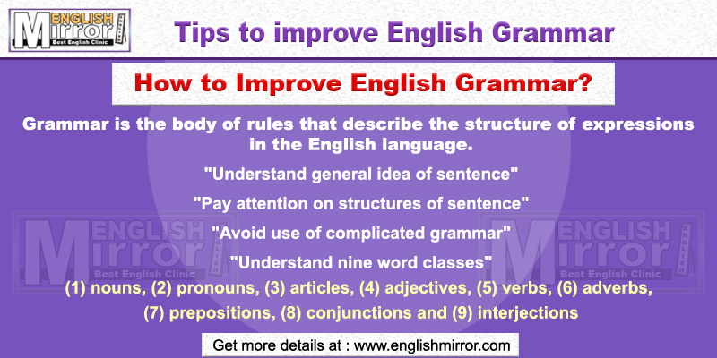 Tip to improve English Grammar
