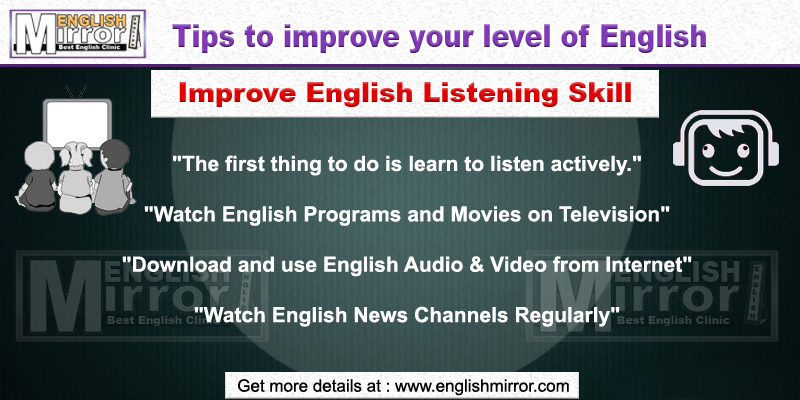 Tip to improve English Listening