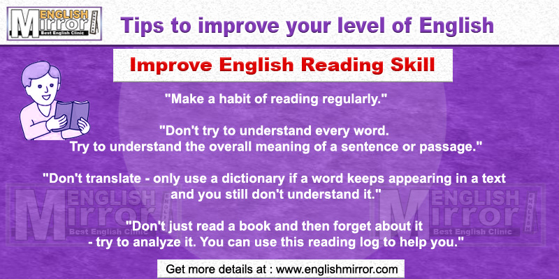 Tip to improve English Reading