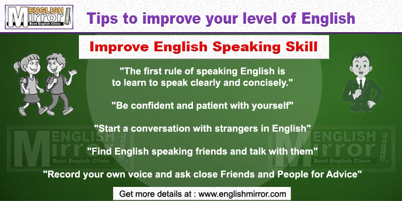 Tip to improve English Speaking