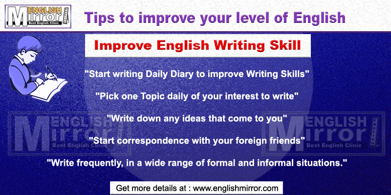 Tips to improve English Writing