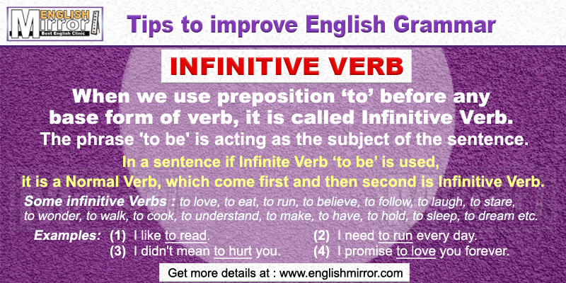 Infinitive Verbs in English Grammar