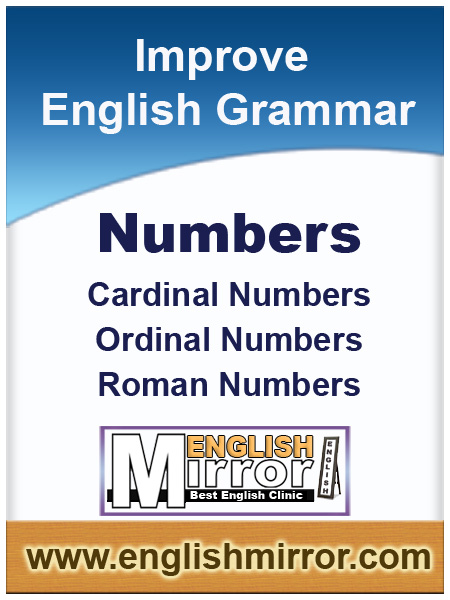 Cardinal and Ordinal numbers in english