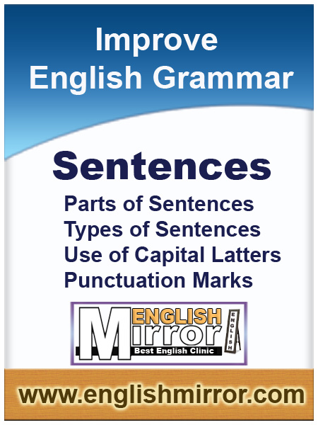 Parts of sentenses in english