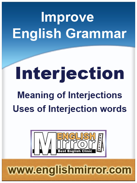 Uses of Interjection words in English Language